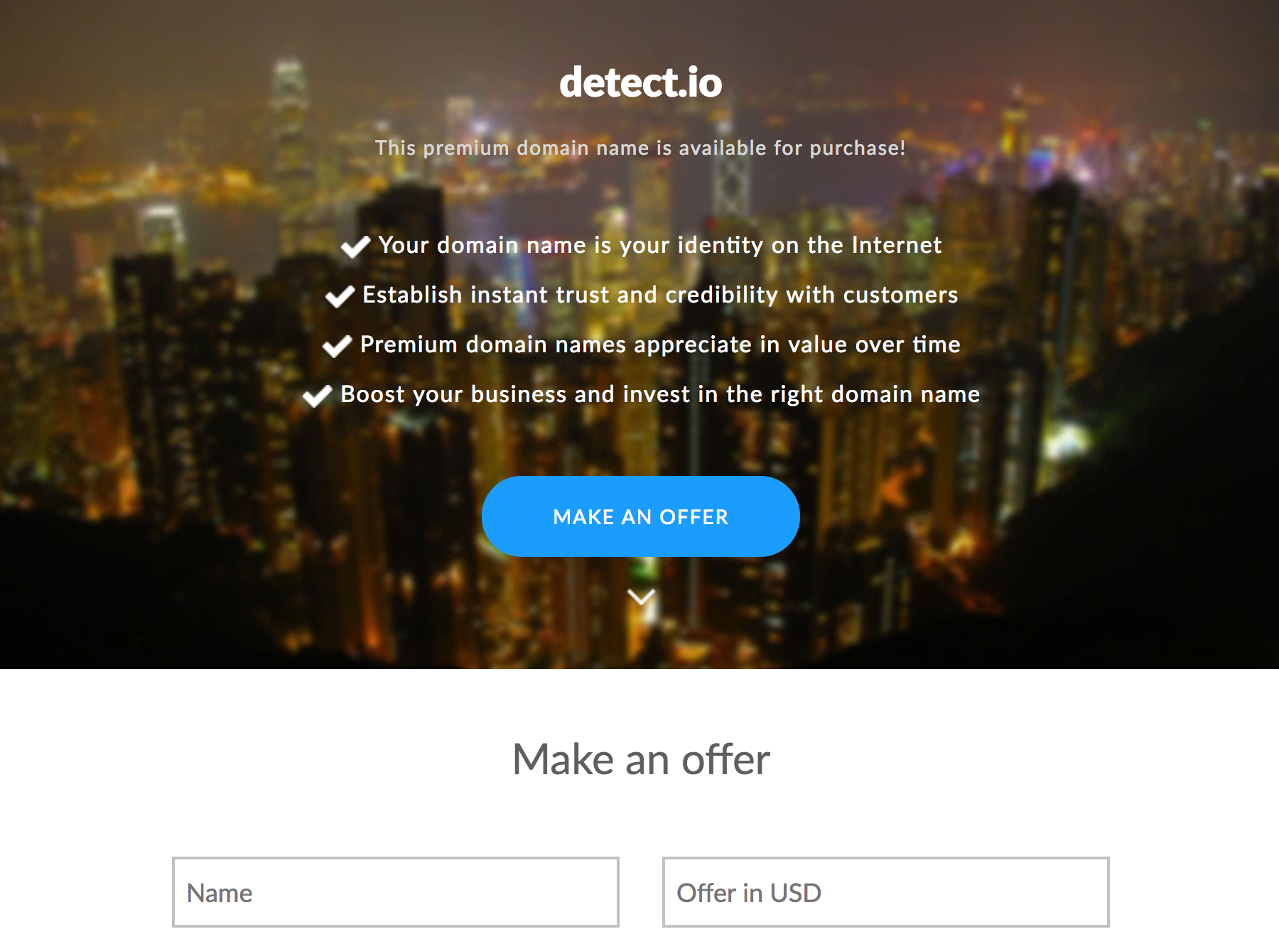 Detect.io with Hong Kong Efty theme