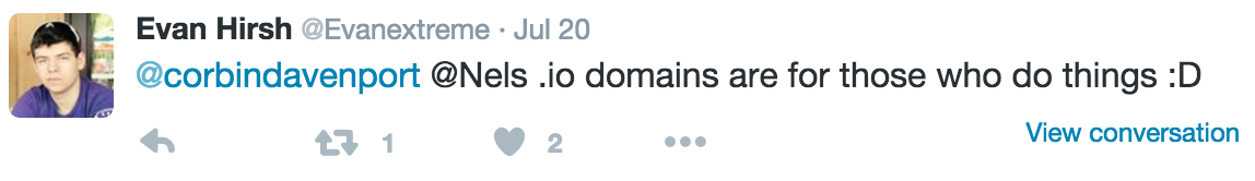 tweet about .io domains